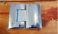 """תמונה של ציר זכוכית לזכוכית  למקלחון 8 מ""""מ"""
